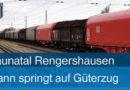 Sehr gefährlich – Junger Mann springt am Haltepunkt Rengershausen auf Güterzug