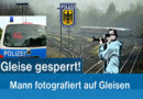 Lebensgefährliche Fotosession auf Bahngleisen
