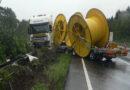 Folgemeldung 2 zum Unfall auf A 7: Möglicherweise Diesel im Erdreich