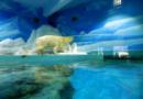 Aufgemalte Eislandschaft im Betonbunker