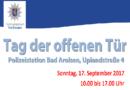 Bad Arolsen – Tag der offenen Tür bei der Polizei am 17. September 2017