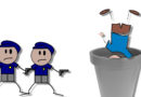 Da lacht die Polizei: Streife rückt wegen pöbelnden Gastes aus und findet ihn kopfüber im Blumenkübel