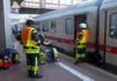 Qualmender ICE fährt in Bahnhof Wilhelmshöhe ein