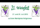 21. Weinfest in Hofgeismar