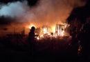 Brand einer Gartenlaube in Niederzwehren