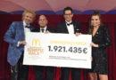 McDonald's erzielt mit seinen Tätigkeiten rund um die Benefiz Gala eine Rekordsumme von 1.921.435 Euro zugunsten Familien schwer kranker Kinder