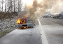PKW Brand auf der BAB 7 – gestern Nachmittag