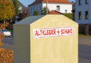 Unbekannte klauen zwei rote Altkleidercontainer: Polizei sucht Zeugen