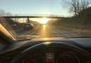 Fahren bei tiefstehender Sonne