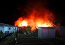 3 Gartenlauben durch Feuer zerstört