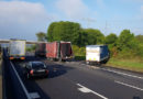 Auffahrunfall von drei Lkw mit zwei Verletzten und rund 70.000 Euro Schaden sorgte für Behinderungen auf A 7
