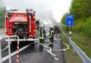 PKW Brand auf der A 49 – niemand verletzt