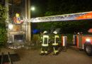 Müllcontainerbrand griff auf Gebäude über
