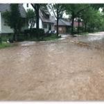 Unwetterwarnung – Straßen überspült