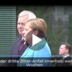 Dritter Zitteranfall in wenigen Wochen: Was ist mit Angela Merkel los?