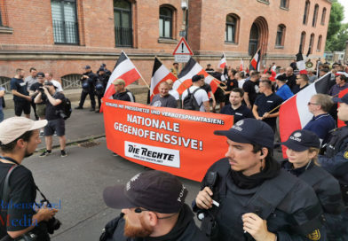 Kontrollierte Kundgebung der Rechten in Kassel