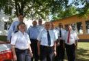 Verleihung des Brandschutzehrenzeichens an Heinz Ziegler, Thomas Wiegand und Frank Vogtmann