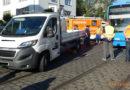 Bilanz eines Verkehrsunfalles zwischen Straßenbahn und Klein-LKW : – 2 Leichtverletzte & 50.000 € Sachschaden