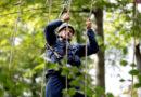 Kassel Huskies klettern über den Baumwipfeln