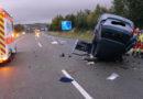 Verkehrsunfall auf der Autobahn, eine Person tödlich verletzt, 2 weitere lebensgefährlich verletzt