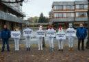 Gequälte Ferkel erheben Verfassungsbeschwerde / PETA-Aktion in Karlsruhe vom 19. November 2019