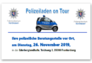 "Frankenberg – ""Polizeiladen on Tour"" – Polizeiliche Präventionsveranstaltung am 26. November in Frankenberg"