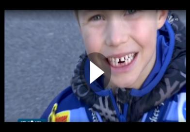 Kann man mal so machen: 7-jähriger zieht Zahn mit Eishockey Puck