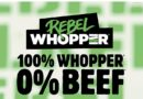 The Vegetarian Butcher und BURGER KING® führen fleischfreien Rebel Whopper® ein