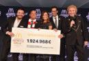 McDonald's erzielt mit seinen Tätigkeiten rund um die Benefiz Gala eine Summe von 1.924.968 Euro zugunsten Familien schwer kranker Kinder
