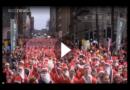 London: 3000 Weihnachtsmänner laufen für den guten Zweck