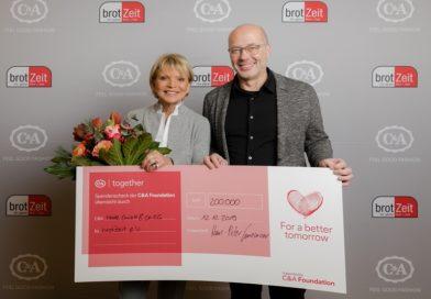 Die C&A Foundation und C&A spenden 200.000 EUR an brotZeit e.V.