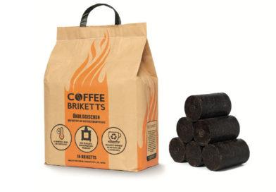 Briketts aus recyceltem Kaffeesatz sind das perfekte Brennmaterial, das Sie über die Feiertage warm hält