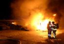 Brand eines Reifenlagers im Ostring -KS