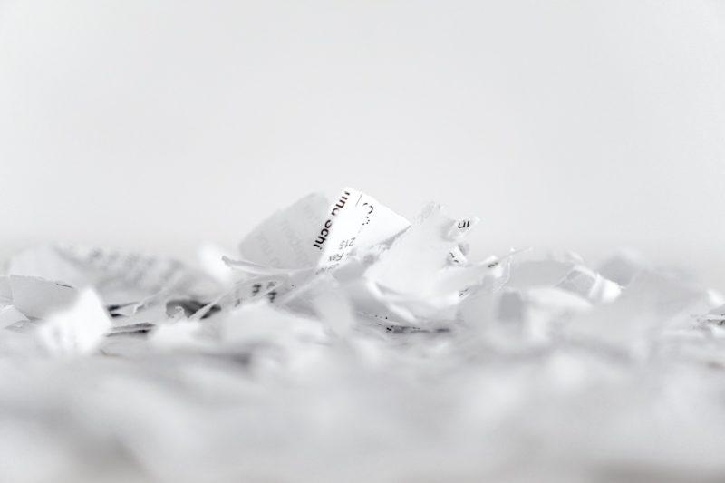 Papier und Pappe auf dem Index