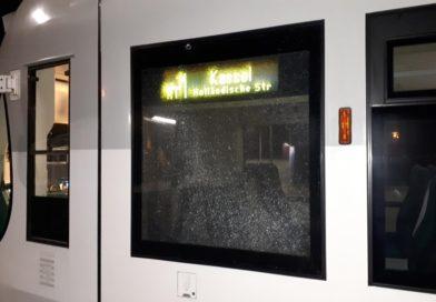 Bundespolizei ermittelt wegen kaputter Scheibe an Regiotram