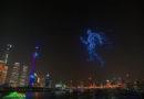 Shanghai: Lichtkunstwerk aus 2.000 leuchtenden Drohnen