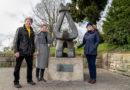 """Neuer Standort für die Skulptur """"Der Gefesselte"""" (""""Den Opfern der Gewalt"""") auf dem Weinberg"""