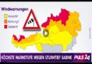 Sturm Sabine nun auch in Österreich angekommen