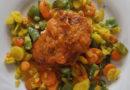 Jeder kann kochen, man braucht nur Mut: Gebratene Hähnchenbrust mit Tomatenbutter an Pfannengemüse