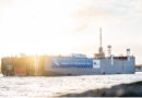 AIDAcosma: 140 Meter langes LNG-Maschinenraummodul wird von Rostock-Warnemünde nach Papenburg überführt