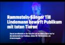 Zerstückelte Fischleichen: PETA fordert Musiker Till Lindemann auf, Tiere aus dem Bühnen-Programm zu streichen