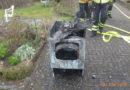 Wäschetrockner fängt Feuer – Haus unbewohnbar