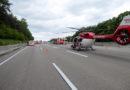 Schwerer Verkehrsunfall gestern. Feuerwehr mit Großaufgebot zur Stelle