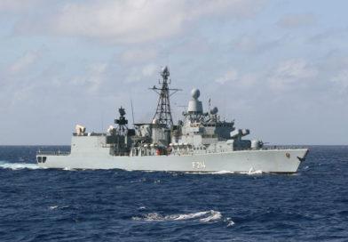"""Seltener Besuch in Warnemünde – Fregatte """"Lübeck"""" auf dem Weg zum internationalen Manöver"""