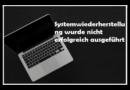 [4 Fehler] Systemwiederherstellung in Windows 10 funktioniert nicht
