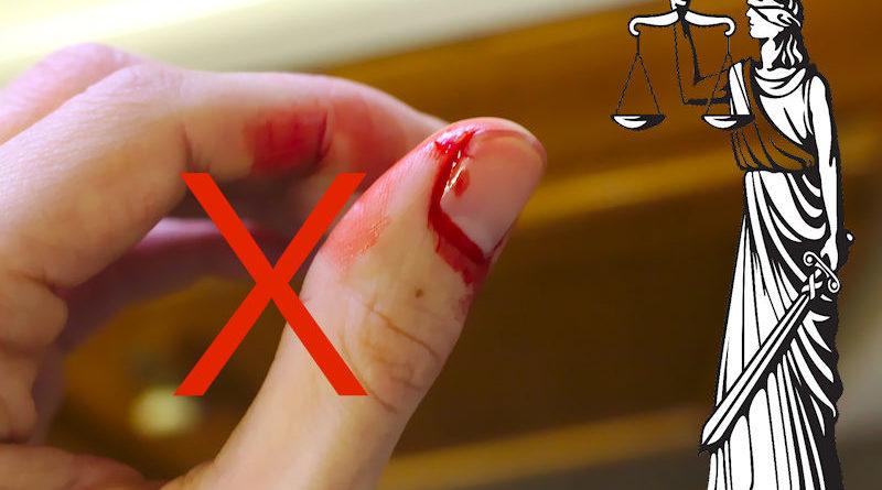 Blutender Finger ist keine Ausrede für Raserei