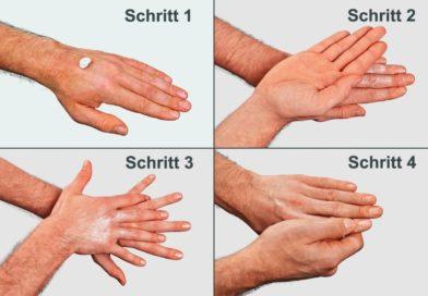 Nach dem Händewaschen ist vor dem Eincremen