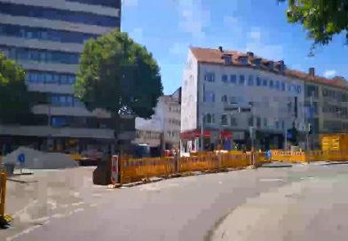 Veränderte Verkehrsführung am Ständeplatz von der Fünffensterstraße in Richtung Scheidemannplatz